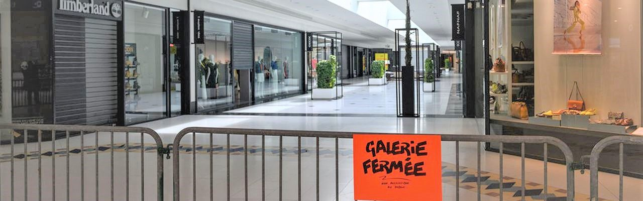 Non-food businesses and restaurants closed at the Atlantis shopping center in Saint-Herblain (France) in order to limit human-to-human contact in order to combat the spread of Coronavirus / Covid-19, in Nantes, France, on March 16, 2020. (Photo by Estelle Ruiz/NurPhoto)